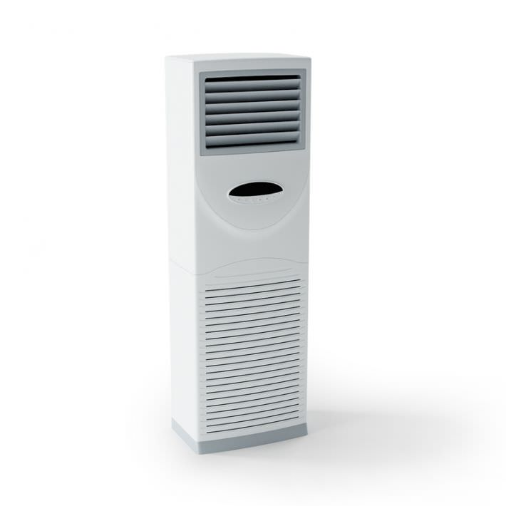 Captivating White Floor Air Conditioner 3d Model Obj 1