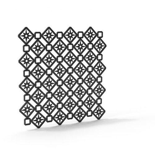 black railing with sun pattern 3d model obj mtl 1