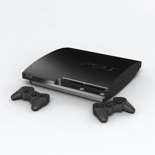 ps3 video game console 3d model obj 1