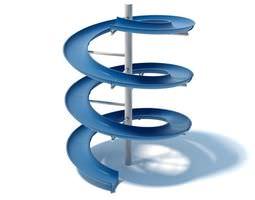 3D model Blue Colored Water Slide