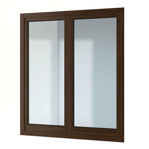 modern wood framed window for your home 3d model obj 1