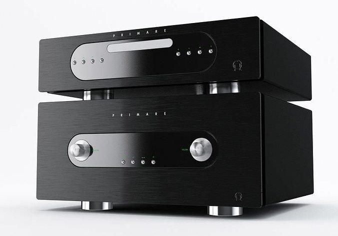 stereo tuner cd player 3d model obj mtl 1