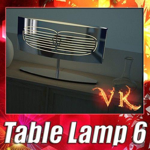 modern table lamp 06 maserati 3d model max obj 3ds fbx mtl mat 1