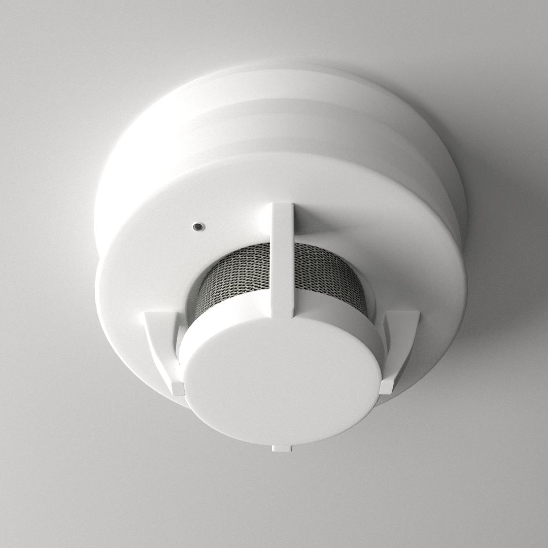 3d Model Smoke Detector Cgtrader