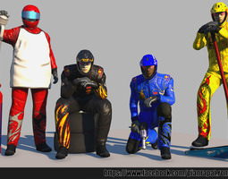 pit crew rigged 3d asset game-ready