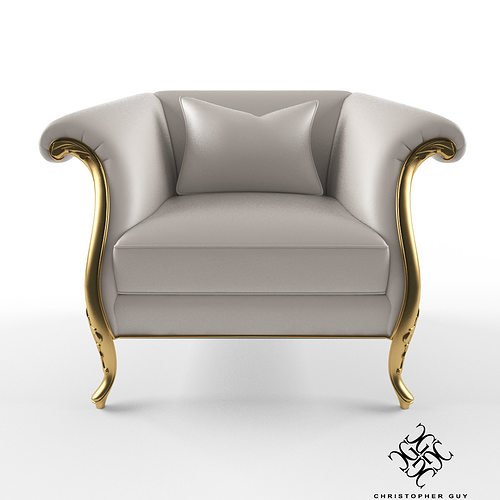 3d Model Christopher Guy Montaigne Armchair Cgtrader