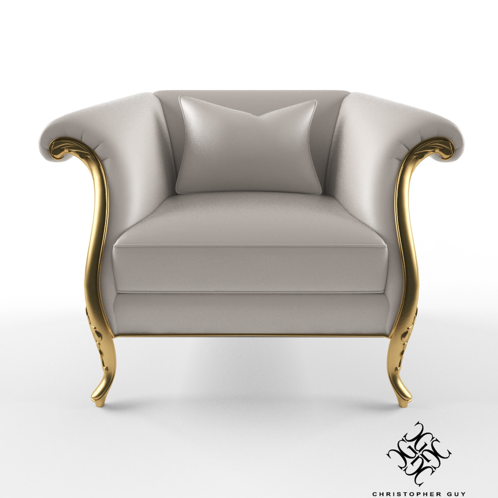 Christopher Guy Montaigne Armchair 3d Model Max