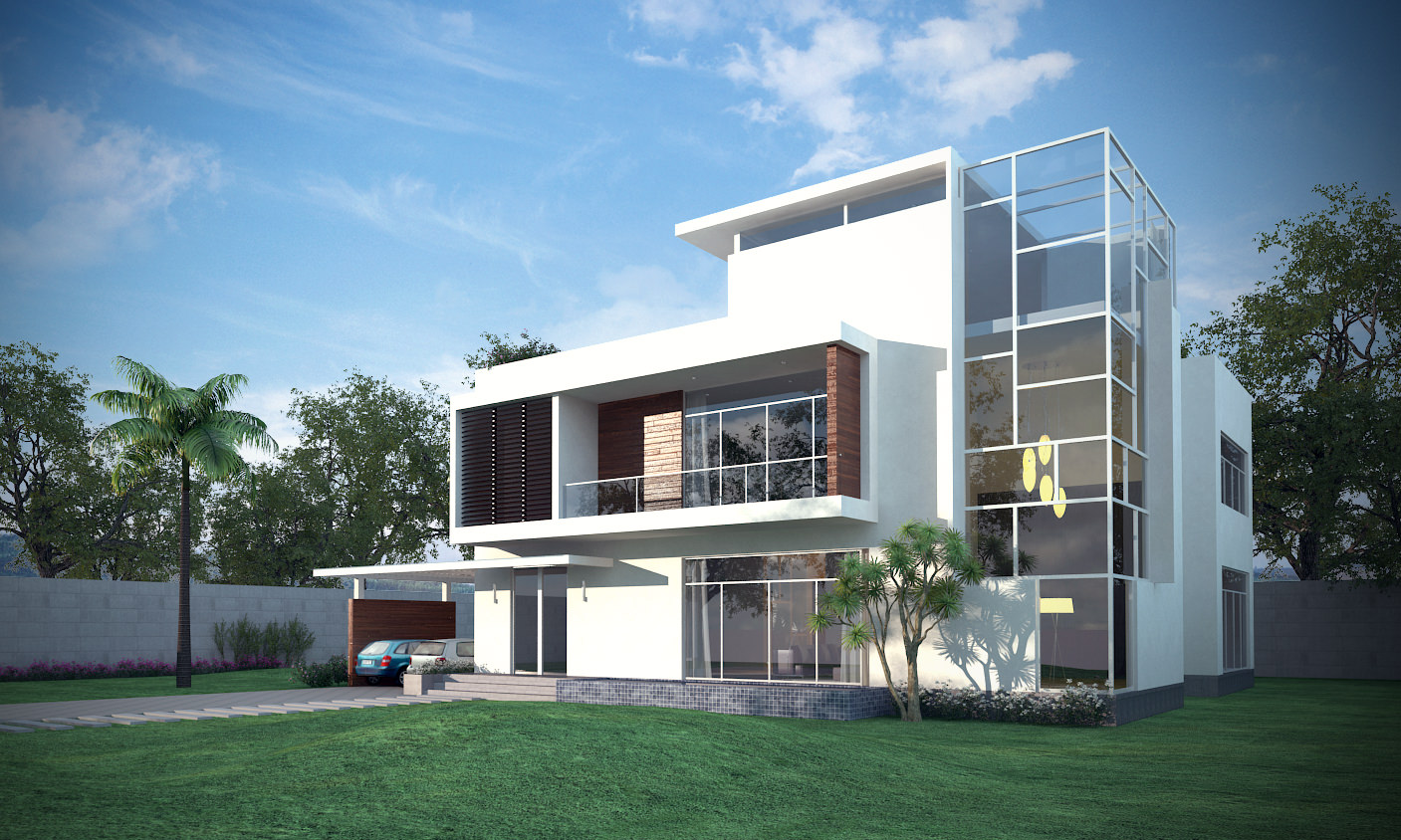 Exterior 3d Model Of 3d Models Luxury Contemporary House 3d Model Max Obj