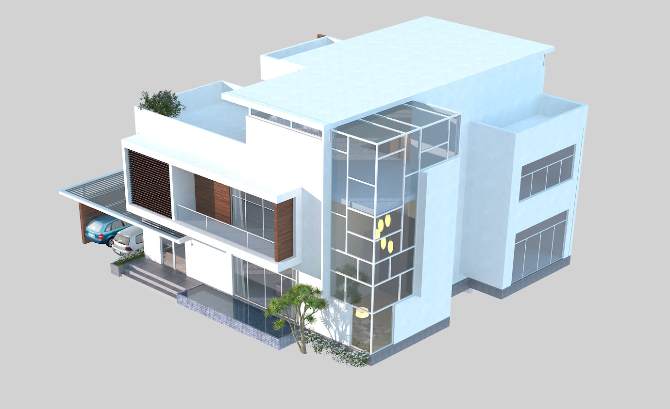 3d models luxury contemporary house 3d model max obj House designs online free 3d