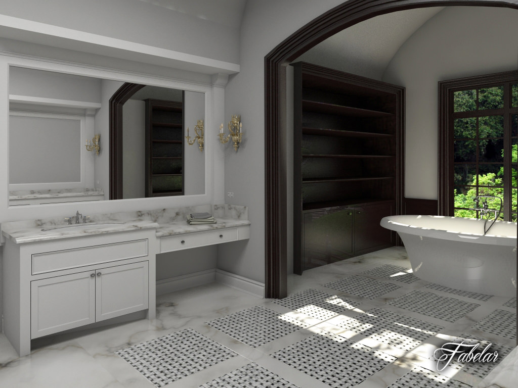 Bathroom 3D Model Scene 3D Bathroom  Cgtrader