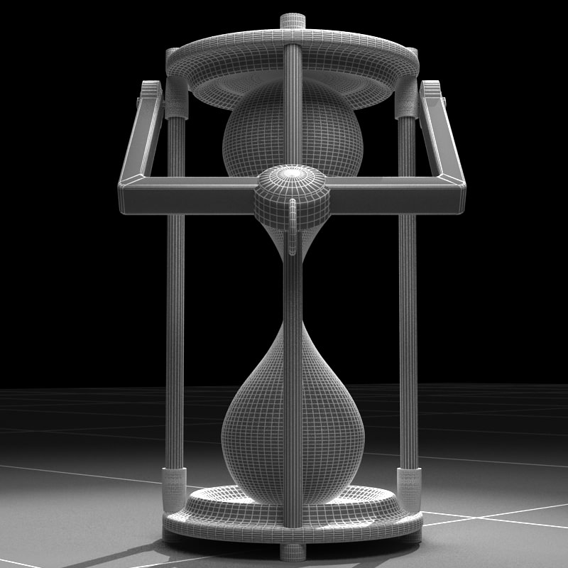 Hourglass 3D Model MAX - CGTrader.com