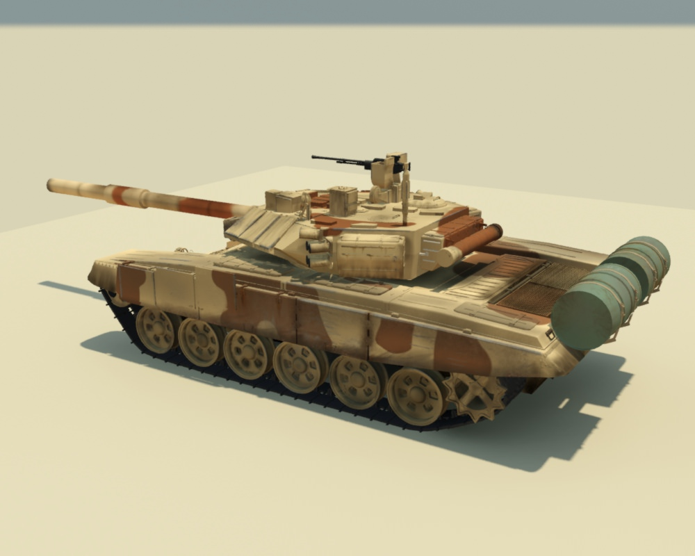 T90 tank 3D Model rigged .max - CGTrader.com