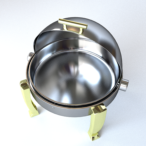 round chafing dish 3d model - Chaffing Dish