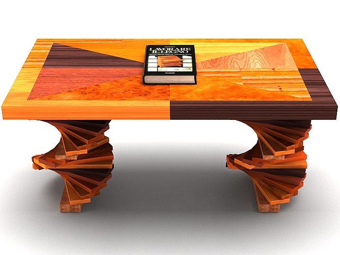 Wood Parquet Table 3d Model Max