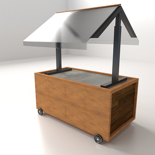 3d Model Food Cart 2 Cgtrader
