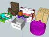 A set of Six Jigsaw desk tidy pots - 3D printable and reconfigurable  3D Model