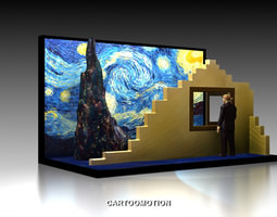 the starry night by vincent van gogh 1889 3d printable model