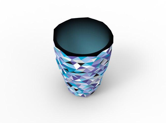 VVVASE - full color 3D Printed Vase3D model