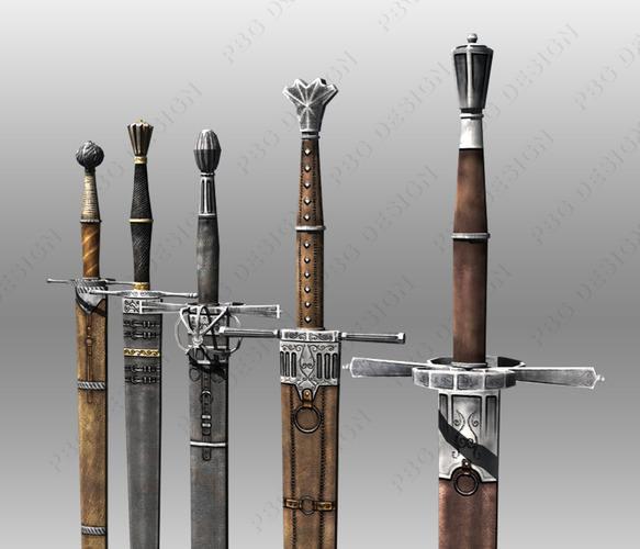 Bastard Swords3D model