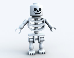 Lego skeleton PRINTABLE 3D Model
