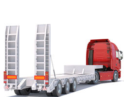 Iveco Stralis with Flatbed Semitruck 3D model