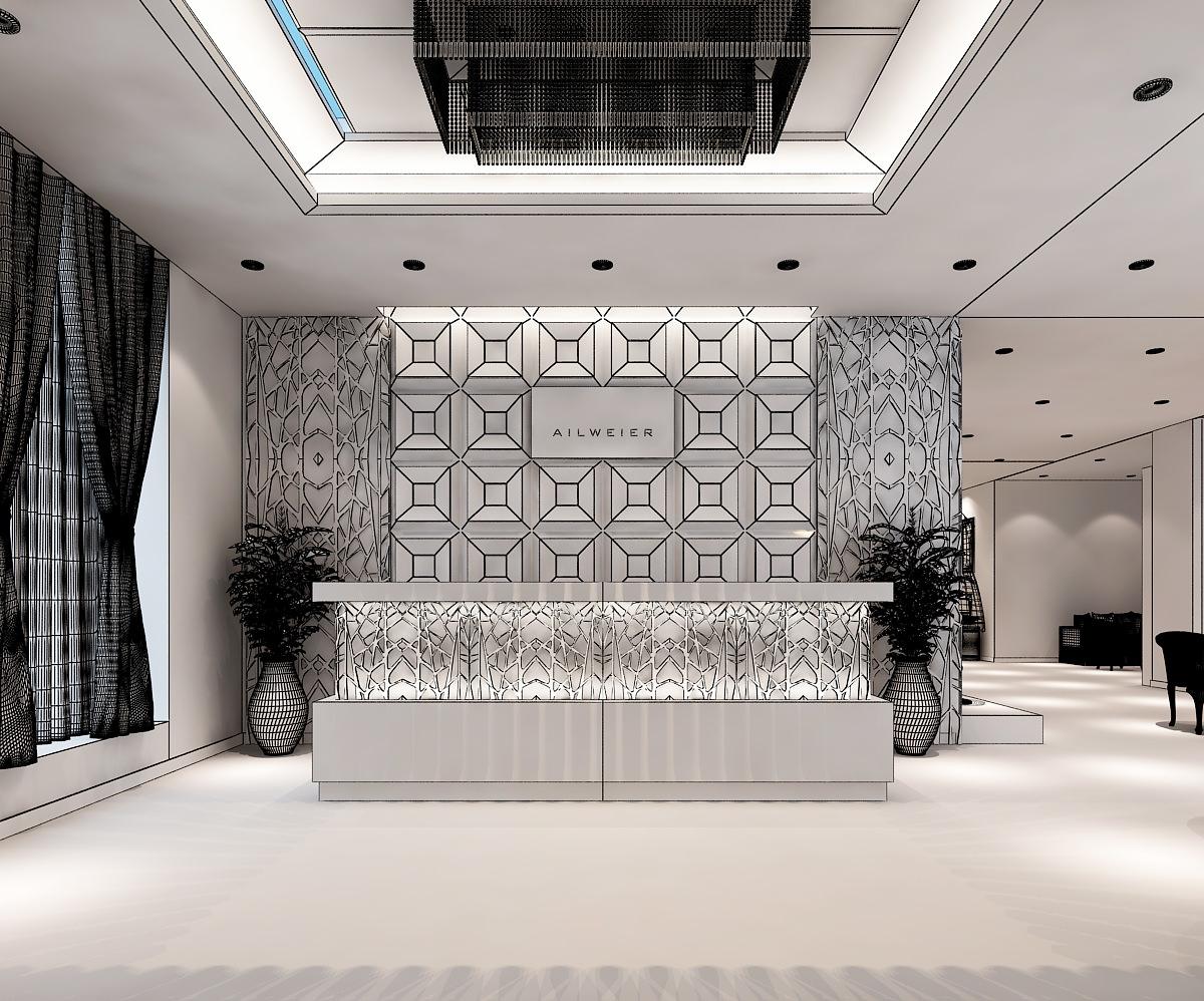3d Models Clothing Showroom Interior 3d Model Max