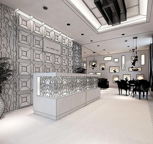 D models clothing showroom interior model max