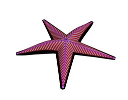 Pink-colored Starfish 3D model