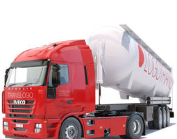 Iveco Stralis with tipping silo 3D