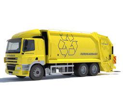 3D DAF CF 85 Garbage Truck