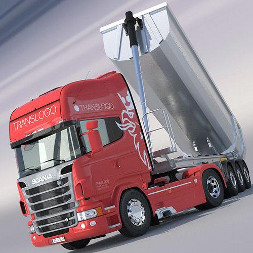 scania r730 v8 with aluminium dumper trailer 3d model max obj 3ds fbx lwo lw lws hrc xsi. Black Bedroom Furniture Sets. Home Design Ideas