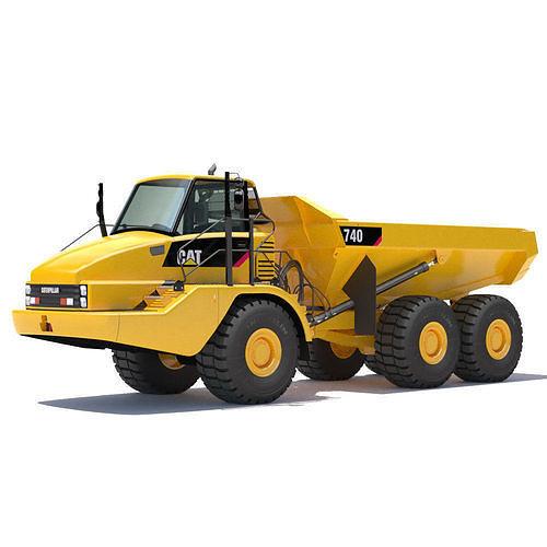 articulated dump truck 740 3d model max obj mtl fbx lwo lw lws 1