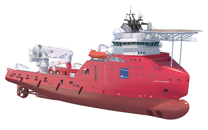 construction anchor handling vessel skandi skansen 3d model max obj mtl fbx lwo lw lws 1