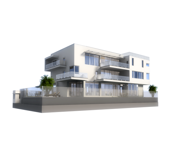 3d model luxury contemporary house with pool 3d model max for Contemporary model house