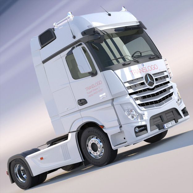 Ongekend New Mercedes Actros MP4 GigaSpace Truck 3D model LH-57