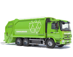 3d model new mercedes actros garbage truck