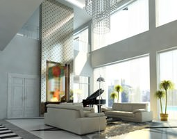 Photoreal Luxury House Interior 3D
