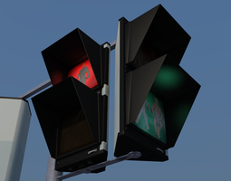 gesig traffic sign 3d model