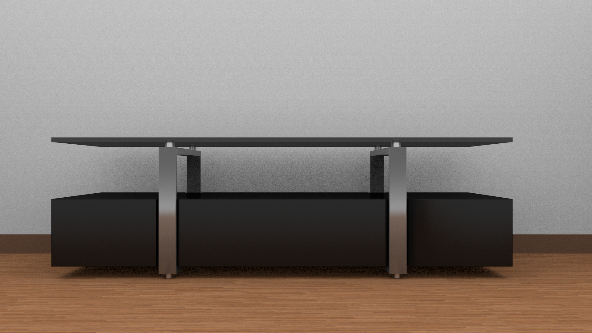 tv table 3d model game ready obj fbx blend dae