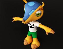 Fuleco Armadillo FIFA Brazil 2014 Mascot 3D Model