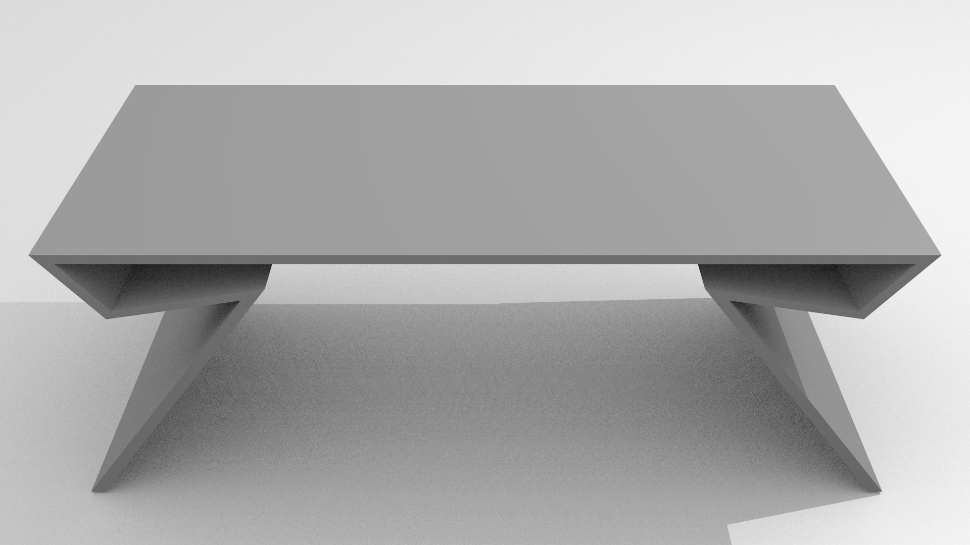 Modern table free 3d model obj blend dae for Contemporary table