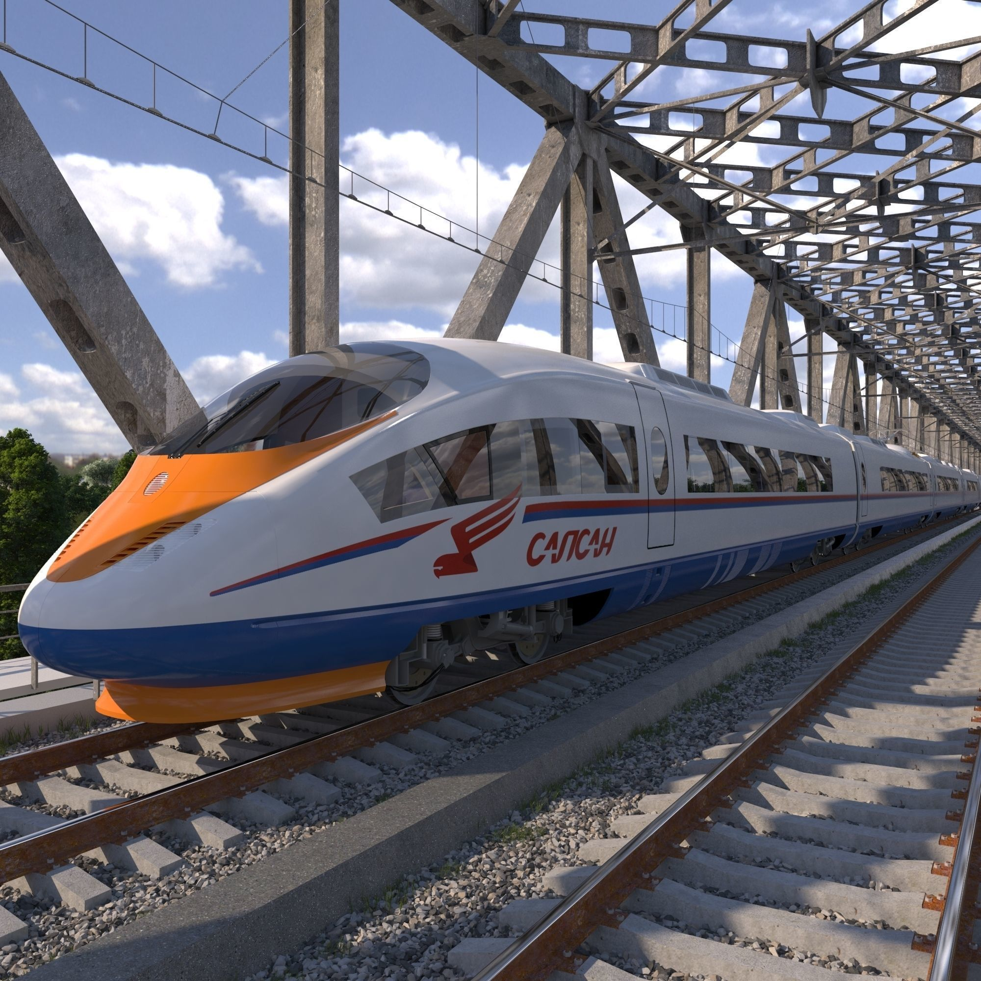 Hi-speed Electric Train Sapsan Siemens Velaro RUS