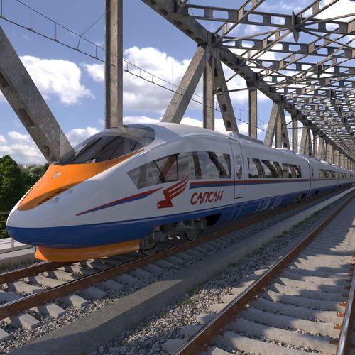 hi-speed electric train sapsan siemens velaro rus  3d model max obj mtl 3ds fbx c4d dxf 1