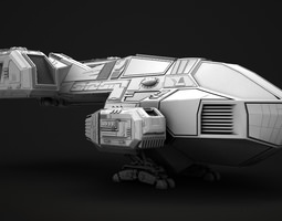 Small transport ship 3D model