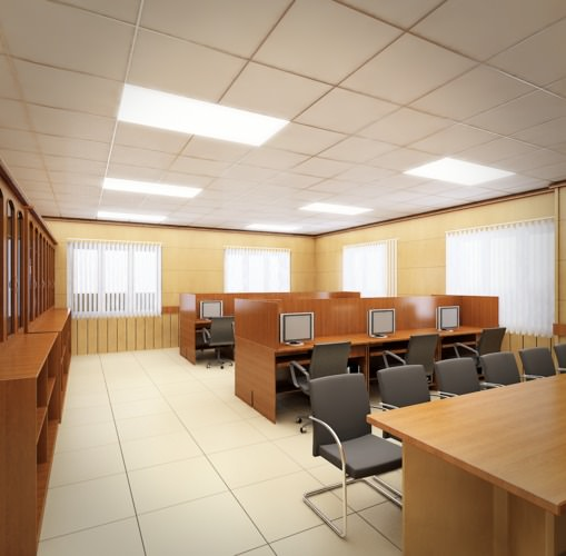 3D Model cutaway Detailed Office Building Interior Scenes 3D Model .max