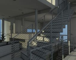 interior staircase with wire stairs archinteriors vol 19 3d