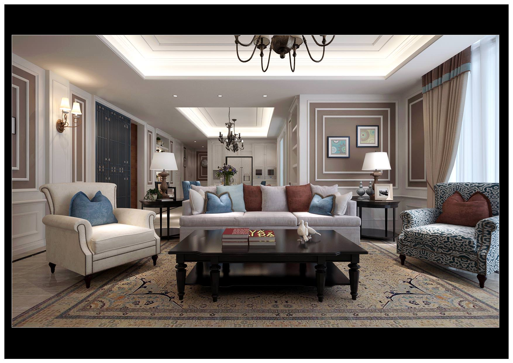 Modern Bright Living And Dining Room Decor 3d Model Max