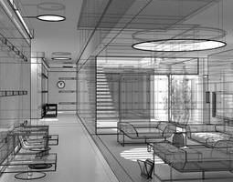 Photorealistic Living Room Scene 3D model