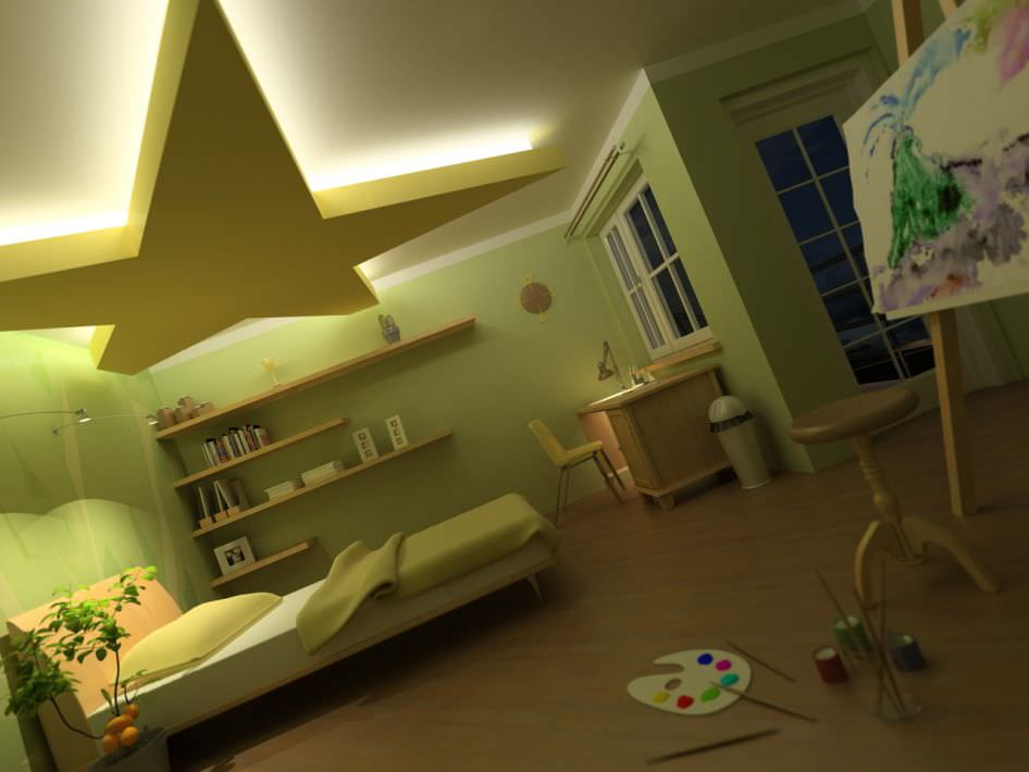 Kids Bedroom 3d Model 3d model child bed room scene | cgtrader