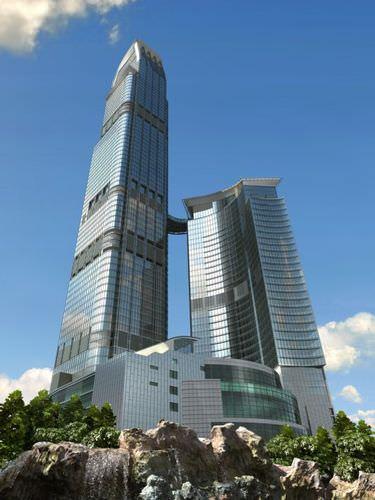 Modern Office Skyscraper Scene3D model